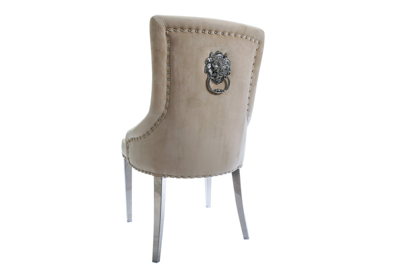 Nude Lion Back Dining Chair