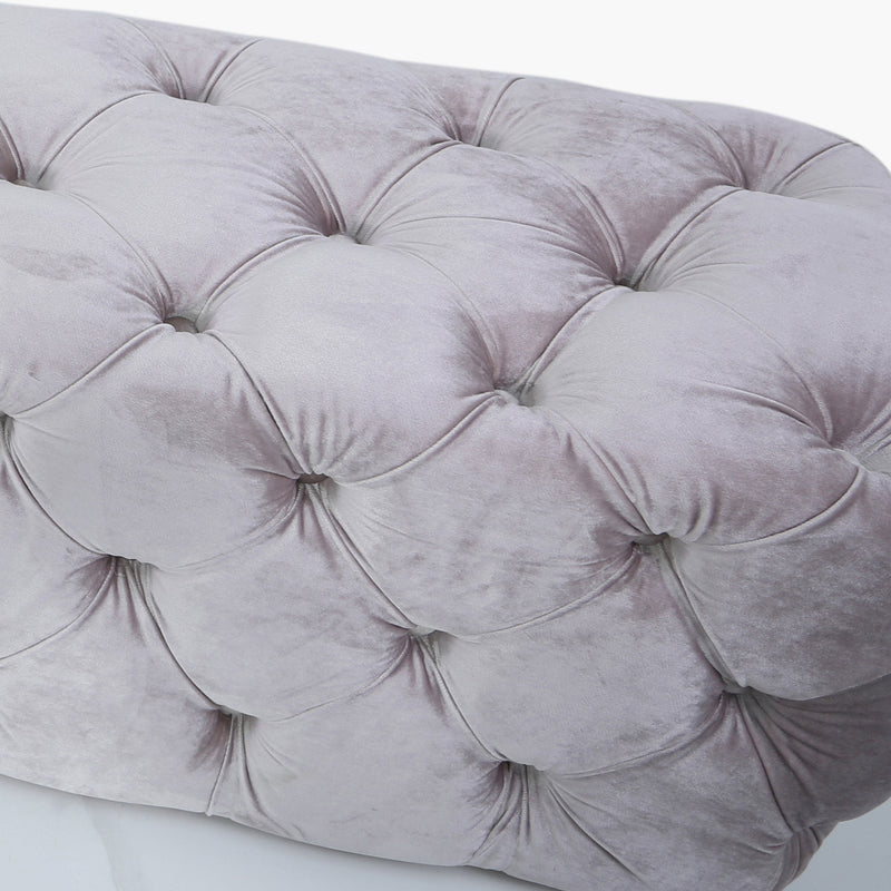 Pink Tufted Bench
