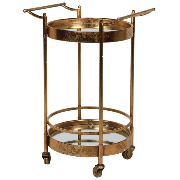 Gold Mirrored Trolley