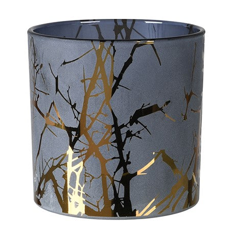 Frosted Gold Twig Candle Holder