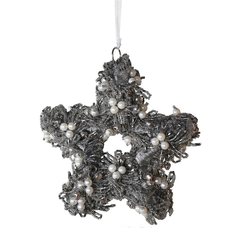 Pewter Beaded Star