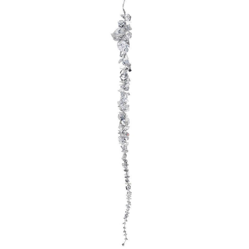 Clear Beaded Icicle