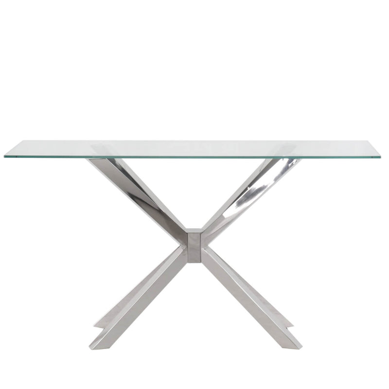Essential Cross Base Console Table