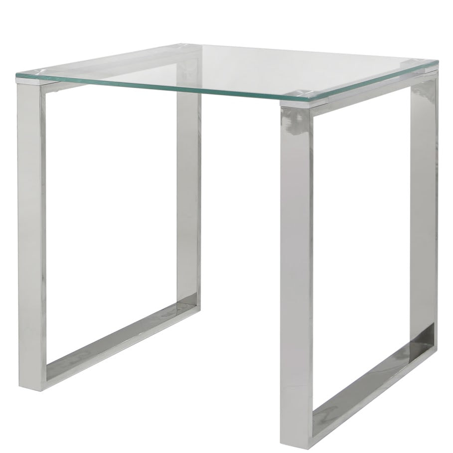 Essential Glass Top End Table