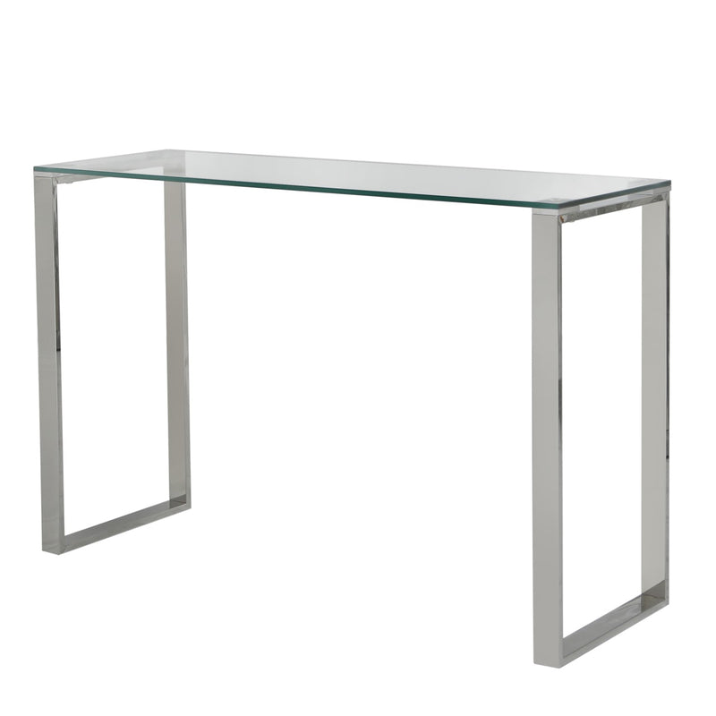 Essential Glass Top Console Table