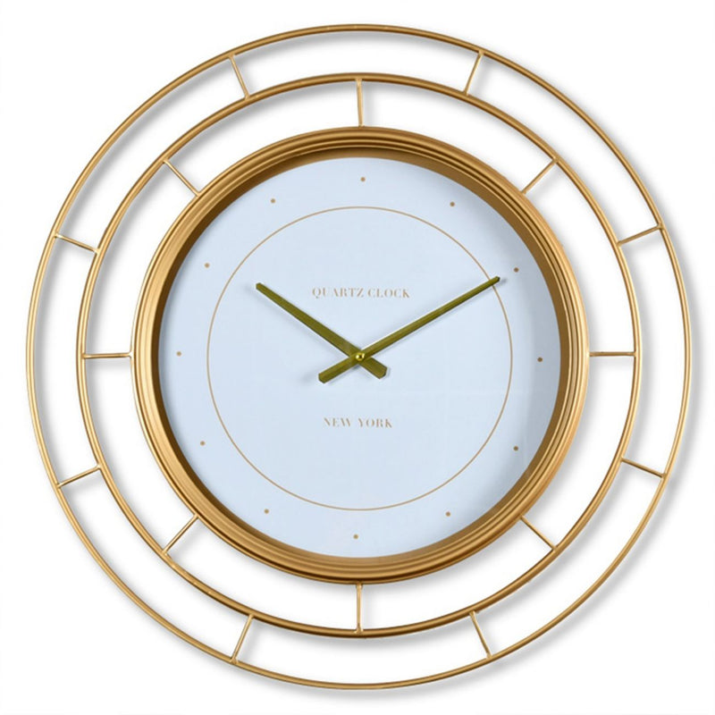 Gold Rings Wall Clock