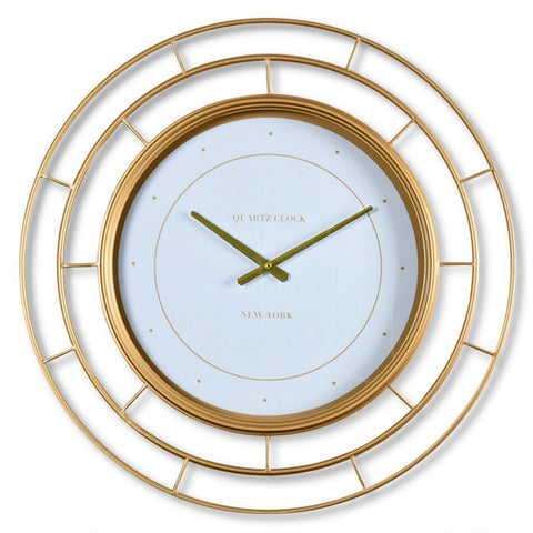 Gold Segmented Wall Clock