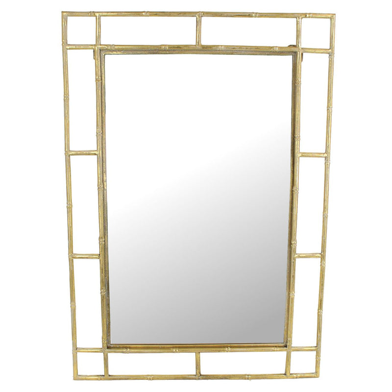 Gold Bamboo Wall Mirror