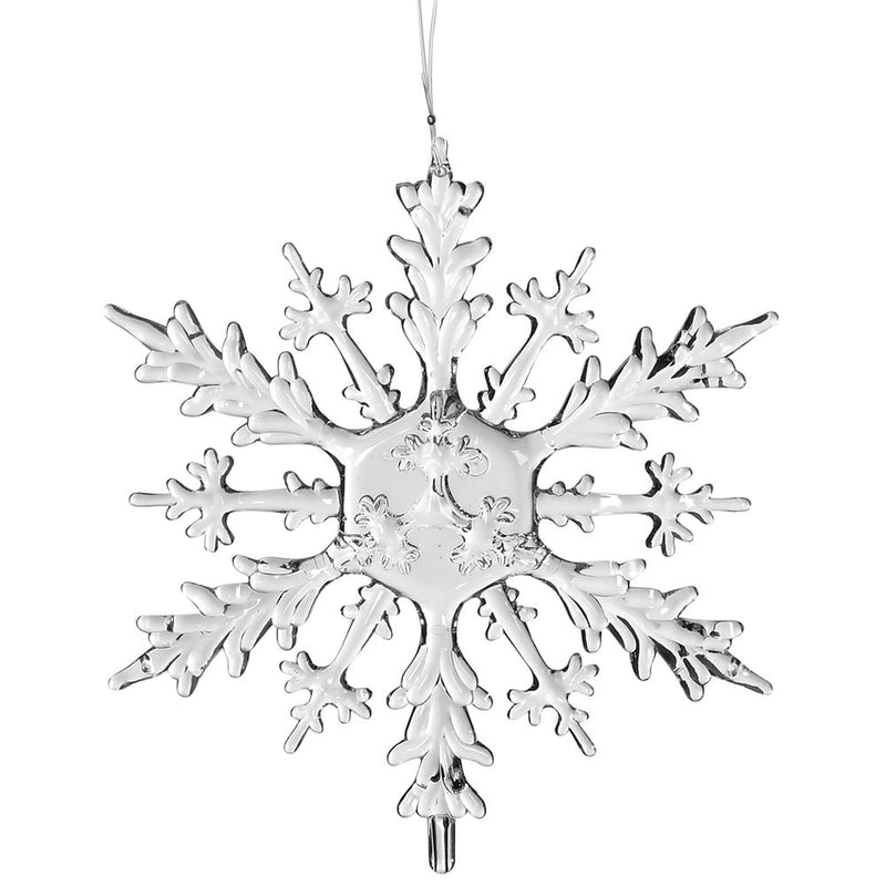 Clear Hanging Snowflake