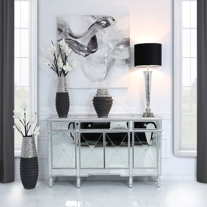Silver Mirrored Sideboard