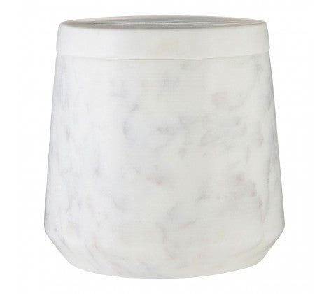 White Marble Cotton Jar