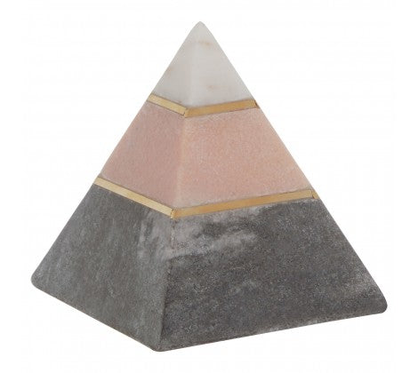 Pink Pyramid Sculpture