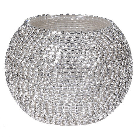 Silver Diamante T-Light Holder