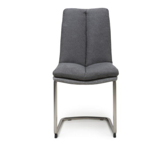 Set of 2 Dark Grey Jacob Dining Chairs