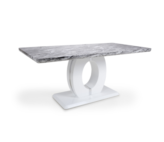 Rowan Grey Marble Dining Table