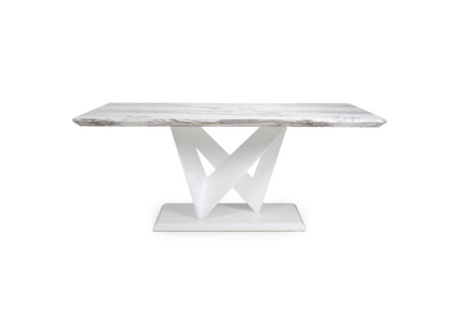 Caleb White Marble Dining Table