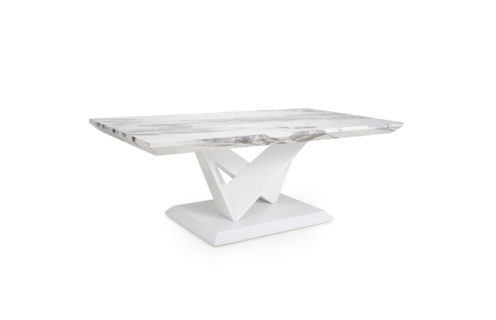 Caleb White Marble Coffee Table