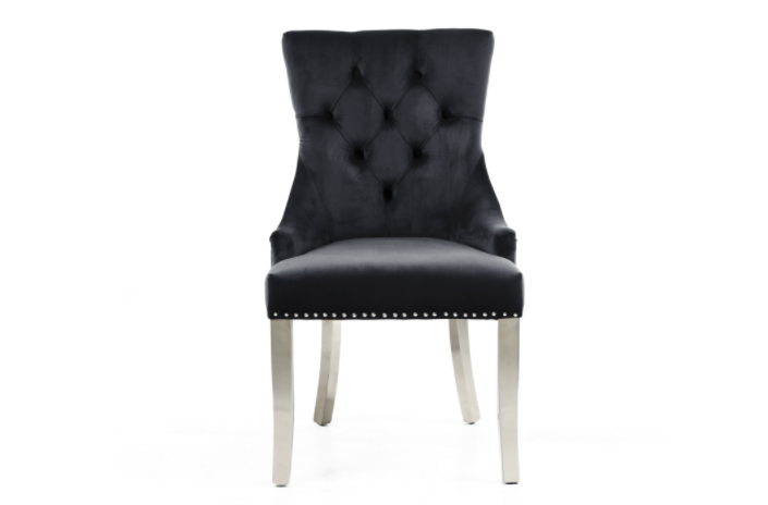 Ryan Black Velvet Dining Chair