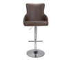 Fitz Coffee Leather Effect Bar Stool