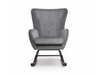 Grey Brushed Velvet Rocking Chair
