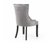 Grey Ring Back Accent Chair with Black Legs