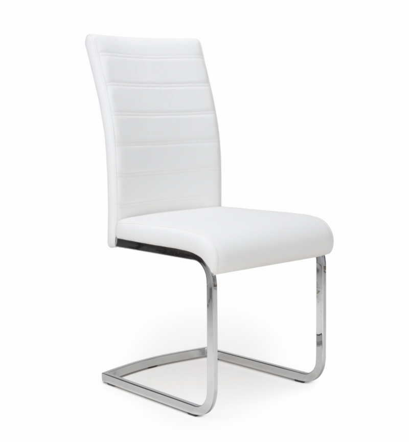 Isla White Leather Dining Chairs
