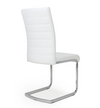 Set of 2 Isla White Leather Dining Chairs