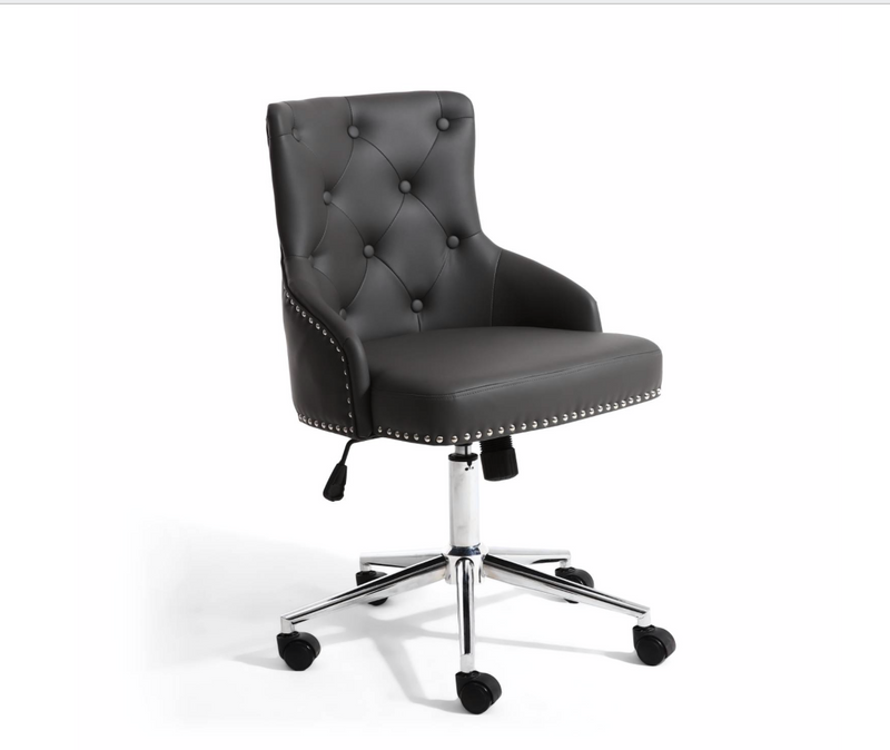 Leo Graphite Leather Office Chair