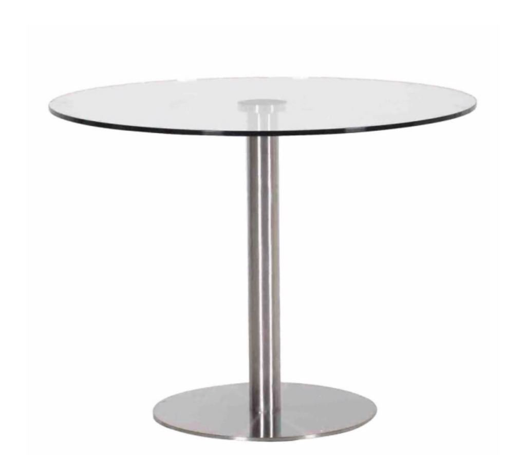 Steel and Glass Round Table