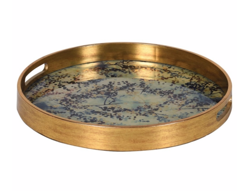 Blue Blossom Effect Tray