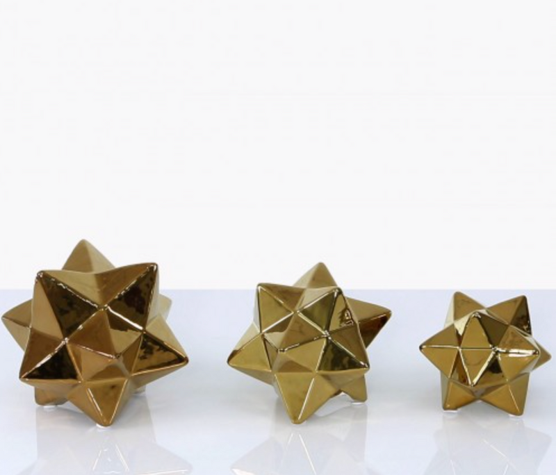 Large Gold Star Ornament