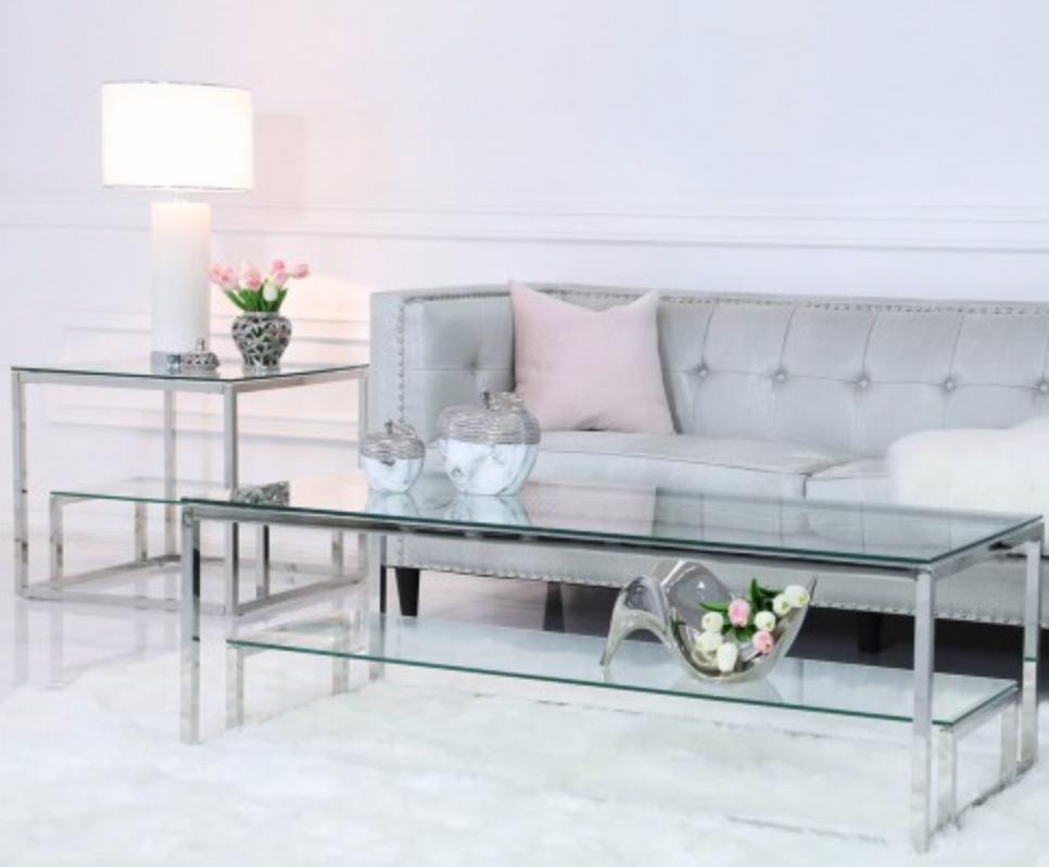 Essential Tiered Glass Coffee Table