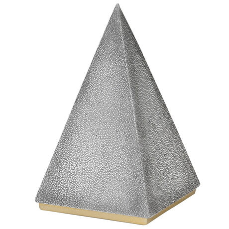 Grey Faux Shagreen Pyramid