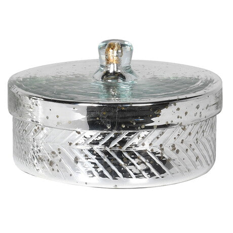 Silver Trinket Box with Lid