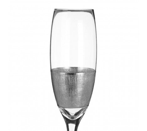 Silver Strip Champagne Glasses