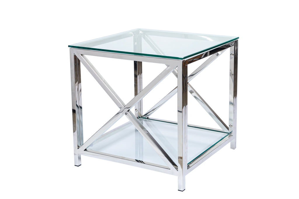 Petite Glass Side Table