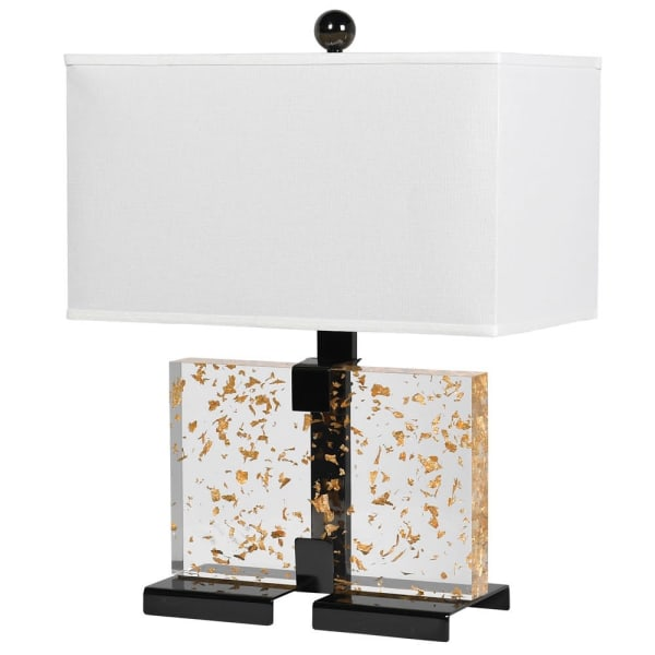 Square Gold Leaf Table Lamp
