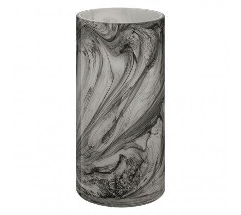 Tall Marble Effect Glass Vase