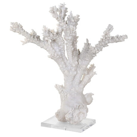 Tall White Faux Coral