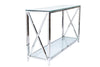 Petite Glass Console Table