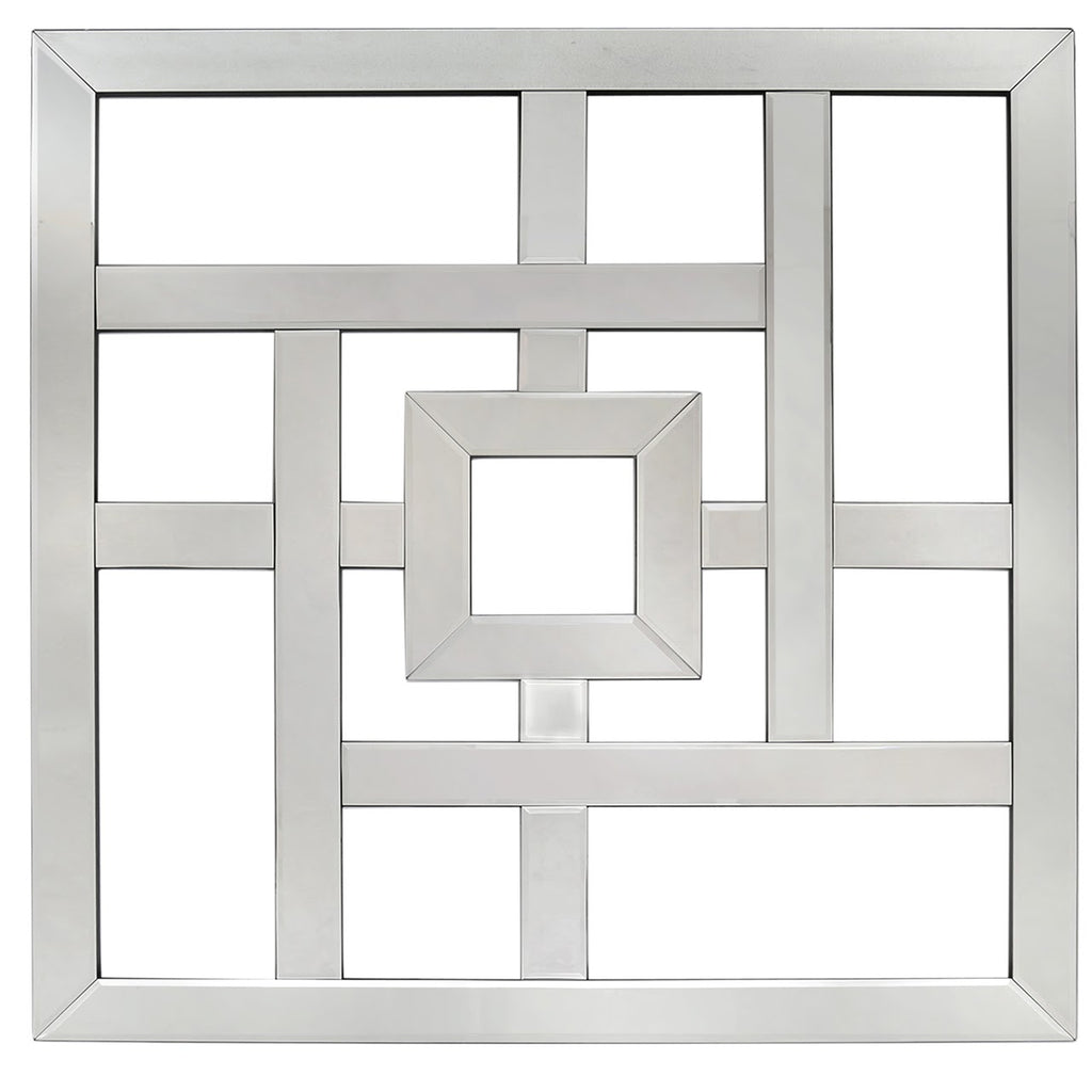 Large Geo Square Mirrored Wall Art