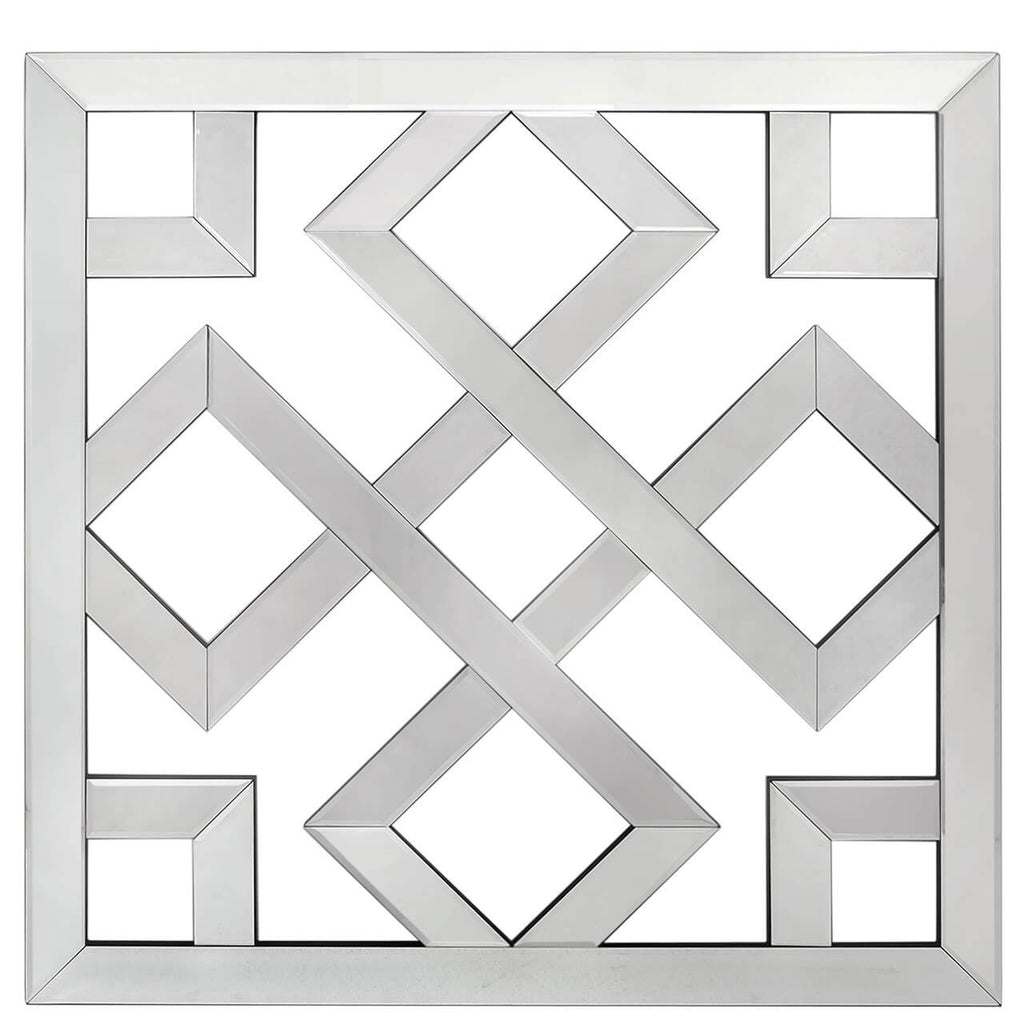 Large Geometric Mirrored Wall Art