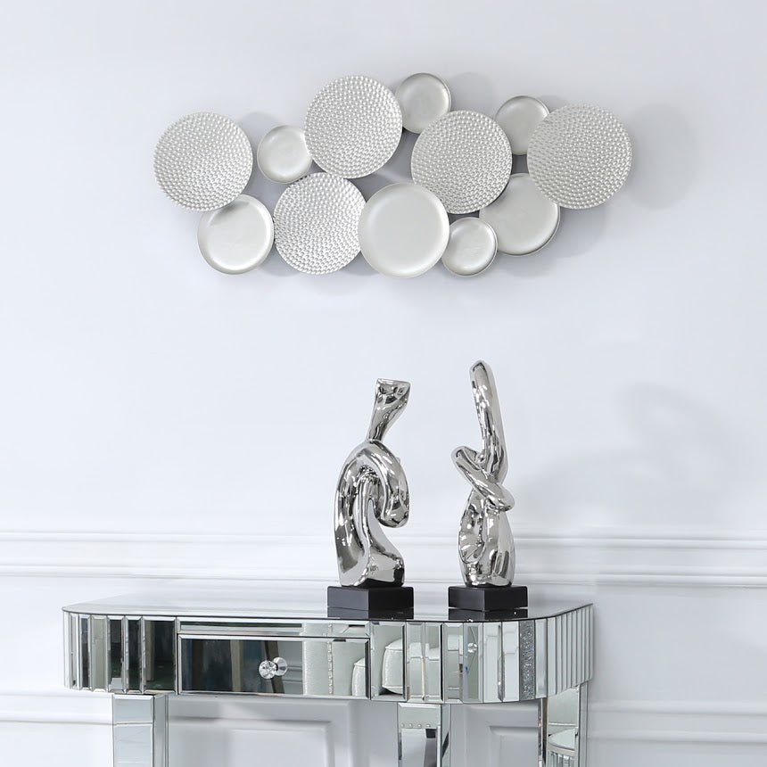 Silver Dimpled Wall Art