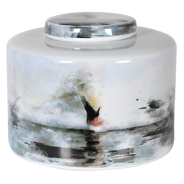 Water Colour Lidded Jar