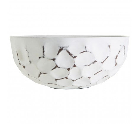 White Distressed Bowl