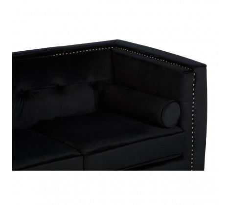 Adonia Black 2 Seater Sofa