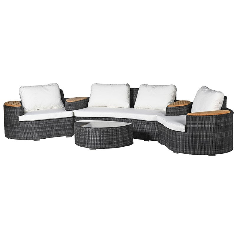 Curved Outdoor Garden Set