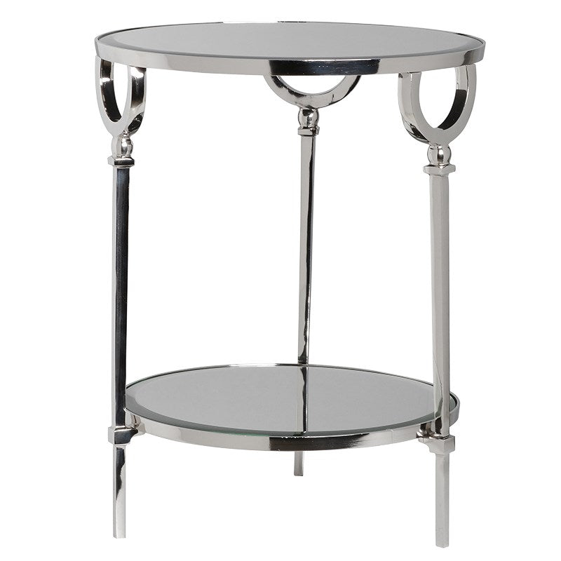 Chrome Round Table With Glass Top