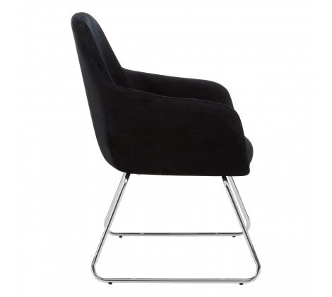 Brody Black Fabric Chair