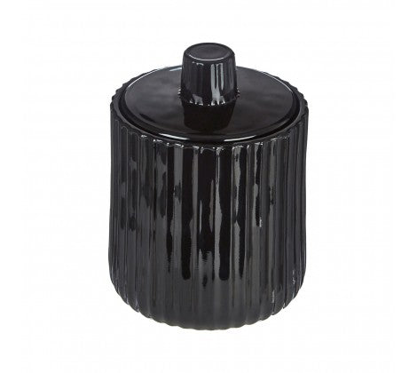 Black Cassie Storage Jar